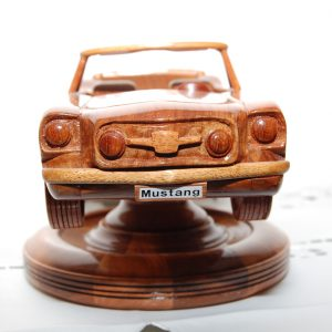 Ford Mustang. Made from New Guinea rosewood.