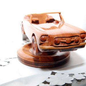 Ford Mustang. Made from New Guinea Rosewood. Approx cost $320.
