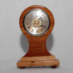 Stained English mahogany clock. Approx. cost $60-$90.