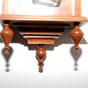Vienna clock made from New Guinea rosewood. Approx cost $420.