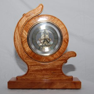 Sextant desk clock made from New Guinea rosewood.