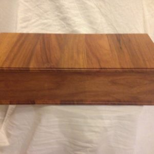 Utility lidded box made from New Guinea rosewood. Approx. cost $60-$200.